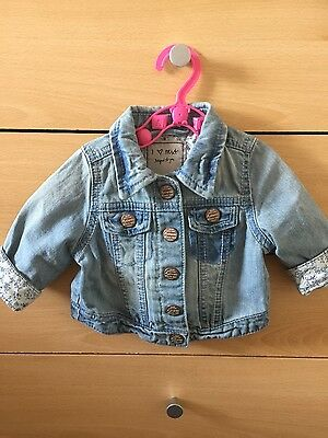 Baby Girls Next Light Denim Jacket Age 3-6 Months