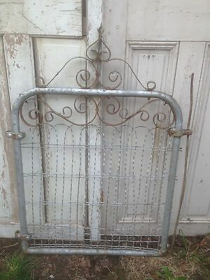 Vintage  WIRE GATE GARDEN YARD ART Cottage Style Fence