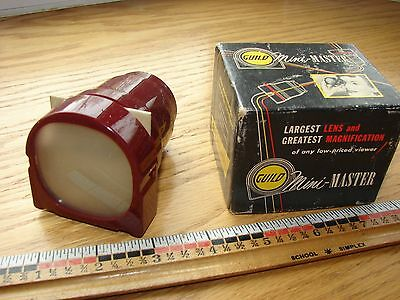 Older Mini-Master slide viewer in original box w/ papers