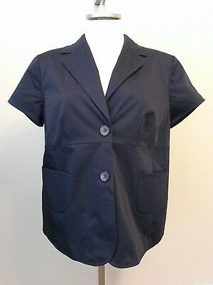 Ann Taylor LOFT Career MATERNITY Blue Short Sleeve Blazer Jacket Size 16