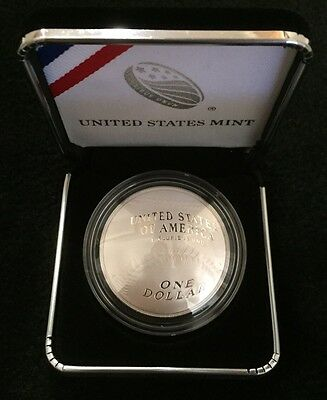 2014 US Mint Baseball Hall of Fame Curved Proof Silver Dollar in OGP