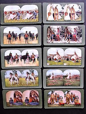 10 Ingersoll 1899 Antique Stereoviews Sioux Indians