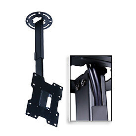 """Universal Ceiling Mount For 15""""-37"""" Screens, 10""""-14"""" Extension - Black"""