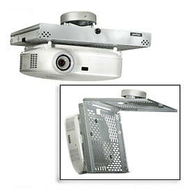 Universal Locking Projector Security Mount, White