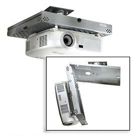 Universal Projector Security Mount, Key-Locking, Silver