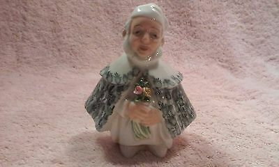 Karl ENS Volkstedt German Porcelain Figurine Man in Cape w/Flowers