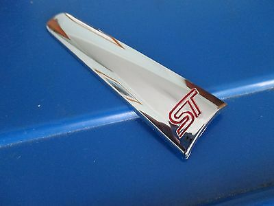 Ford Focus Fiesta Mondeo St New Handbrake Lever Chrome Insert Trim With Logo