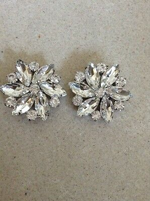 Pure Crystal Dimante Shoe Clips / Accessory / Bridal / Wedding *sale*