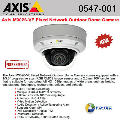 AXIS M3026-VE 0547-001 Outdoor-ready day night fixed dome 3 megapixel HDTV 1080p