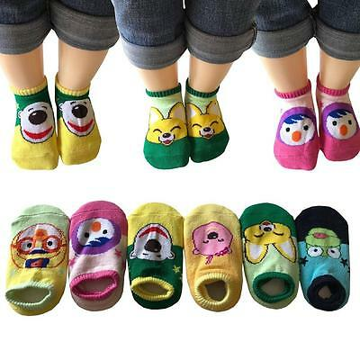 6 Pairs Anti-Slip Assorted Cotton Socks with Grip for 12-36 Months Baby Cartoon