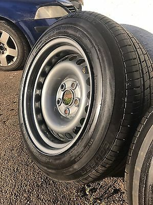 Vw t5 16 inch banded steel wheels and tyres