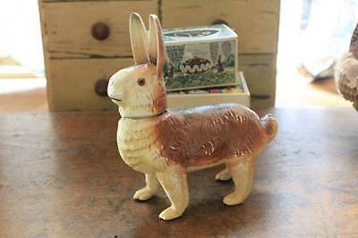 Antique German Easter Paper Mache Rabbit Candy Container