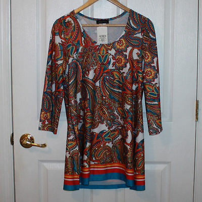 SLINKY BRAND TOP New with Tag Women Size S Small Multi Color