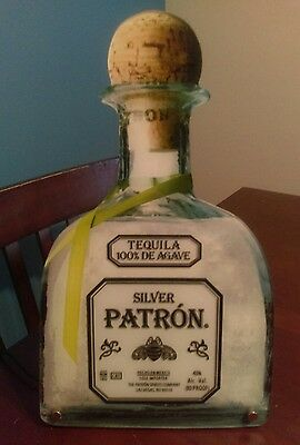 Patron Tequila silver LED sign large wall art bar decor