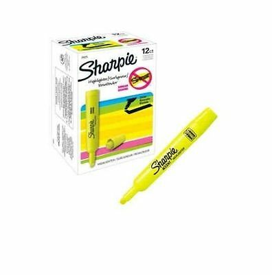 Sharpie Accent Tank Style Highlighter Chisel Tip Fluorescent Yellow 12 Count