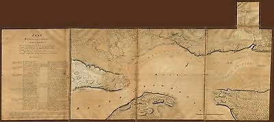 12x18 inch Reprint of French Canadian Map North USA Canada