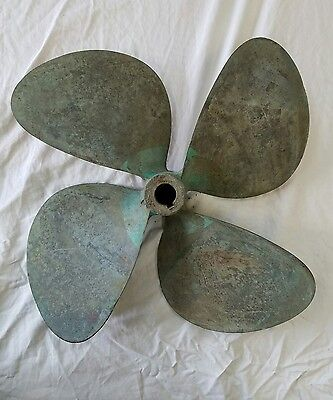Vintage Bronze Boat Propeller. Yacht. Nautical. Marine. Beach. Lake. Cottage.