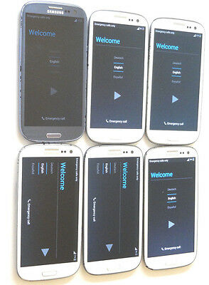 Lot of 6 Samsung Galaxy S3 SGH-i747 AT&T Smartphones Power On Good LCD AS-IS GSM