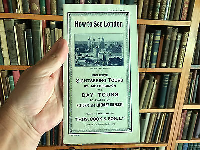 How To See London, First Edition 1926 Brochure, Cook And Son