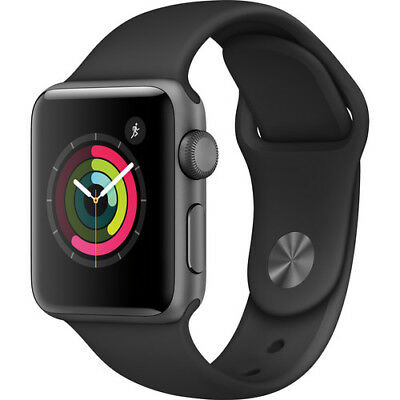 Apple Watch Gen 2 Series 1 38mm Space Gray Aluminum - Black Sport Band MP022LL/A