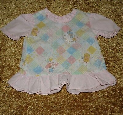 Sweet Handmade Vintage Patchwork Print Baby/doll Gown Approx 9 Months  Vgvc