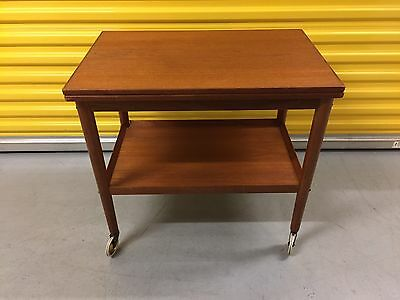 Grete Jalk Teak Tea Cart Table  for PJ Danish Control Mid Century