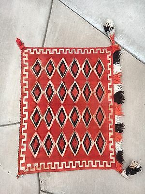 Antique Germantown Sunday Saddle Blanket Navajo