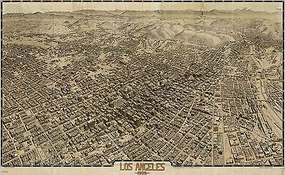 12x18 inch Reprint of Old Maps Los Angeles 1909