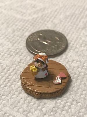Wee Forest Folk Tiny Miss Mouse with Bow Hat One-of-a-Kind FTF 2015 Accessory