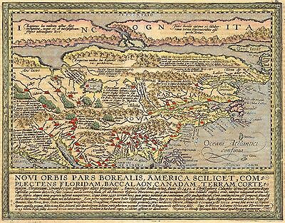 12x18 inch Reprint of Old Maps Old Map Usa Canada Latin