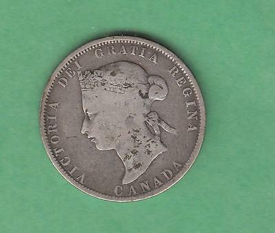 1872 H Canada 25 cent silver - better date