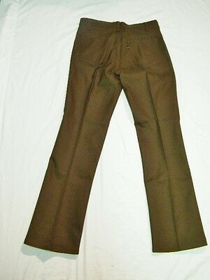 NOS Vintage 80's Levi Sta-Prest 517 Boot Cut Flare Brown Pants Jeans 33x31 USA
