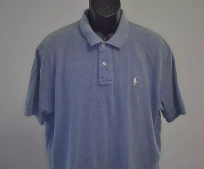 Ralph Lauren Short Sleeve Polo Shirt, Solid Light Blue, 100% Cotton, XL