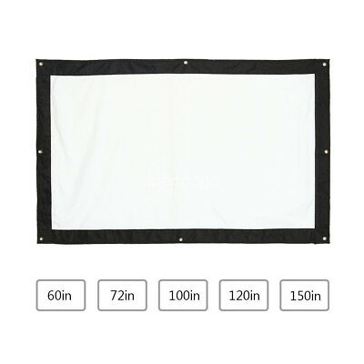 """100"""" 150""""Inch 16:9 Theater Movie Projection Screen Canvas Projector Curtain SG"""