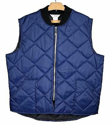 NOS Vintage KEY IMPERIAL Quilted Insulated Chore Work Vest Men's Sz. XXL