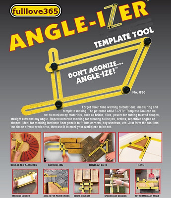 Ultimate Tile & Flooring Template Tool Multi-Angle Ruler hot sale OW