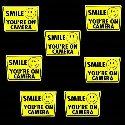 36 WATERPROOF SMILE SECURITY VIDEO CCTV CAMERAS IN USE WARNING STICKER LOT