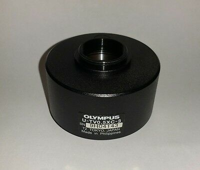 Olympus 0.5X Adjustable Camera C-mount for the BX, CX, MX Series Microscopes