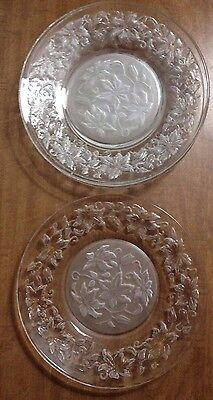 Princess House Fantasia Set of 4 Crystal Luncheon Plates, 8""