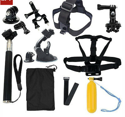 GoPro accessories 15 in 1 Family Kit package for GoPro Hero 1 2 3 3+ 4 xiaomi yi