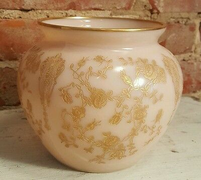 """Cambridge Rosepoint CROWN TUSCAN Vase No Chips All Gold Intact 5"""""""
