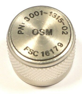 "RF COAX DUST-CAP ""N"" PLUG 18GHz - M/A-COM OSM 3001-1315-02 - *UNUSED*NIB* Qty:2"