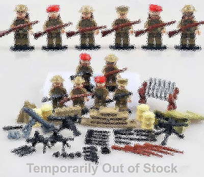 WWII British Soldiers - Lego Compatible - Army Minifigures - Military Minifigs