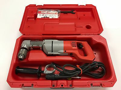 """Milwaukee 1/2"""" Right Angle Drill 3107-6, Used, Fantastic Cond, w/ Case & Parts"""