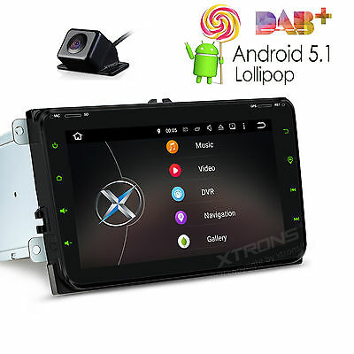 """XTRONS Android 5.1 8"""" Car Radio Stereo GPS Navi Touch Screen For VW Skoda Seat"""