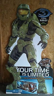 Halo 3 Lifesize Master Chief Cardboard Cut Out Mountain Dew Game Fuel