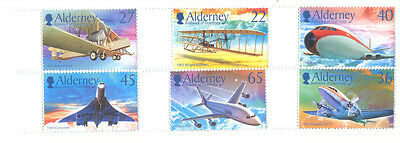 Alderney-Aviation set mnh marginal-Concorde-Wright Bros