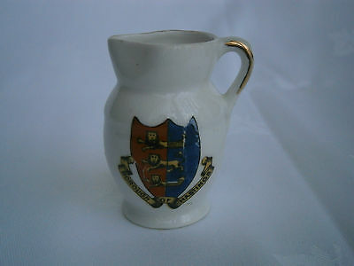Unmarked Crested China - HASTINGS -  Jug - Good condition