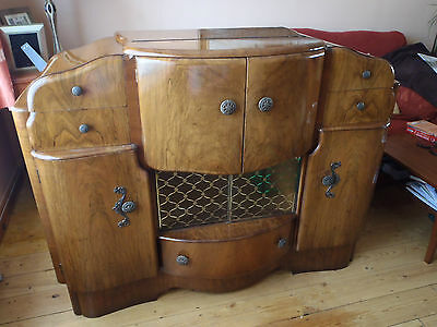 Art Deco Drinks Cabinet Sideboard With Light