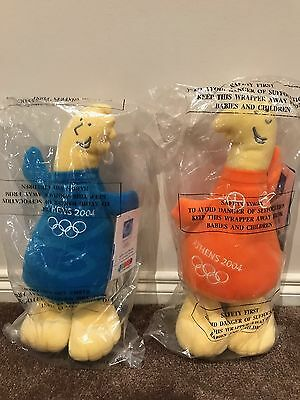 2004 Athens Olympics Phevos & Athena Plush Toys Plus Carry Bag